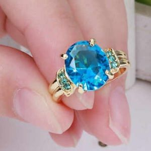 ❤️gorgeous aquamarine gold filled ring